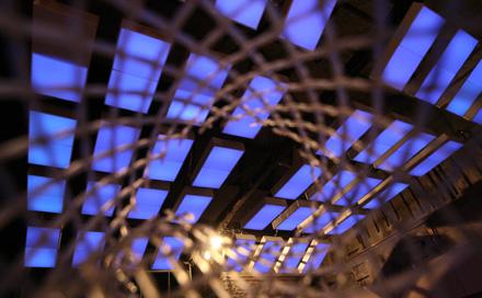 LED Installation von Room Division im Arena Club Berlin