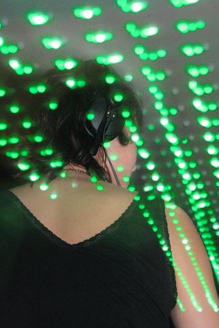 Room Division LED Club Installation im BLUMENGOLD Köln