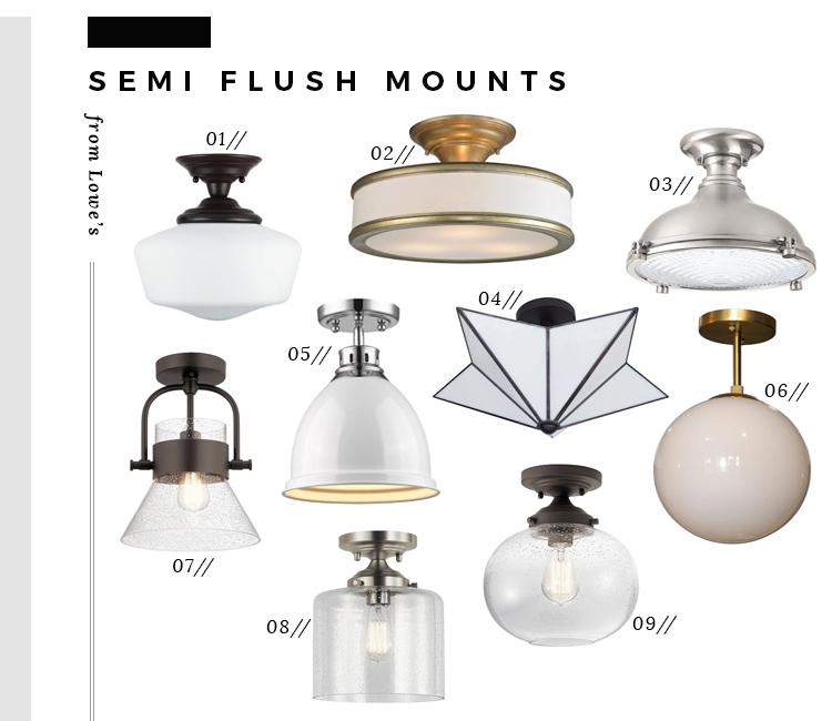 the best semi flush mount lights from