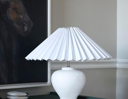 DIY Cordless Plaster Lamp - roomfortuesday.com