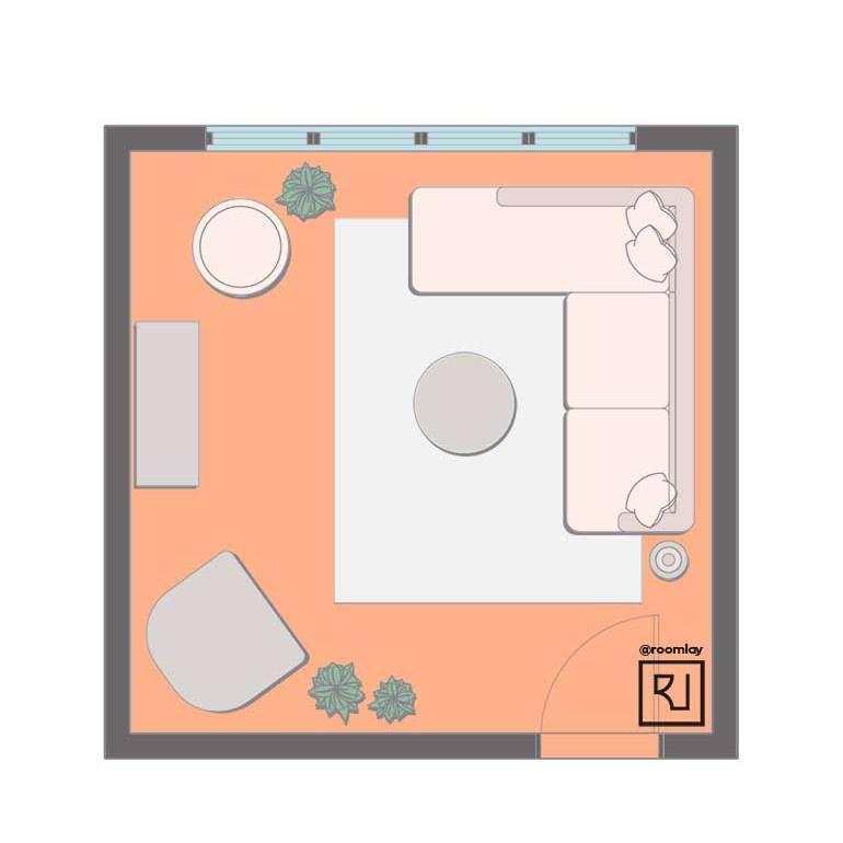 15x15 living room