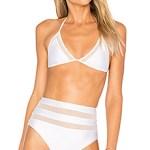 White Mesh Bikini Lovers + Friends Italy Spain Packing