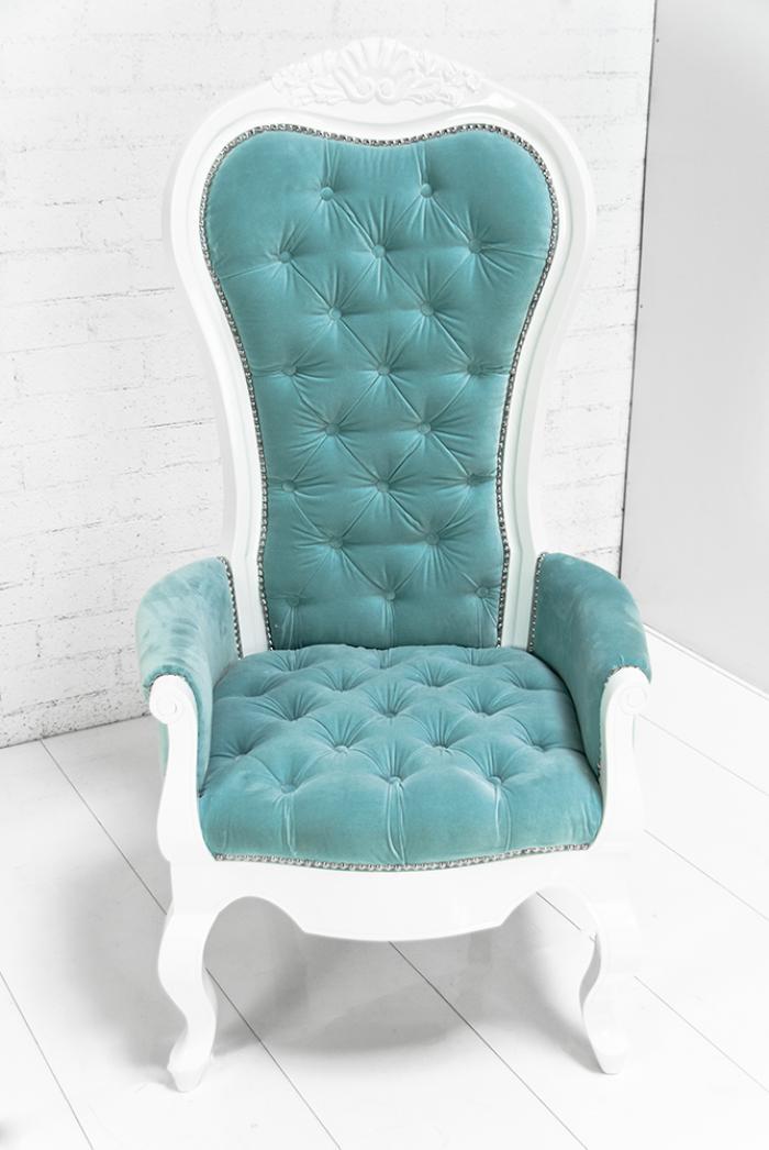 Wwwroomservicestorecom Riviera Wing Chair In Aqua Velvet