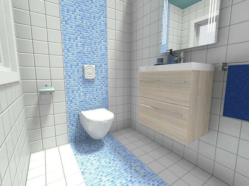 10 Small Bathroom Ideas That Work | Roomsketcher Blog on Small Space Small Bathroom Tiles Design  id=46526