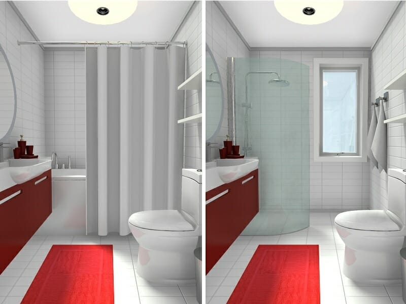 10 Small Bathroom Ideas That Work | Roomsketcher Blog on Bathroom Ideas Small  id=22856