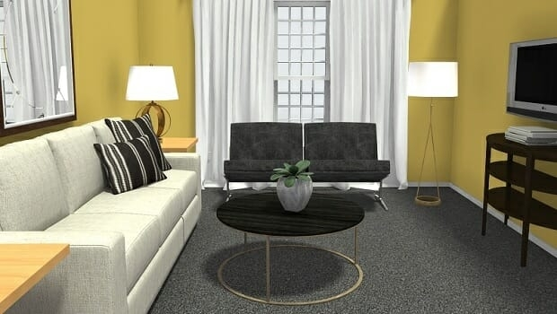 Roomsketcher Blog 8 Expert Tips For Small Living Room Layouts | Small Living Room With Stairs Design | Inner | Unique | Dining | Exciting | Stairway