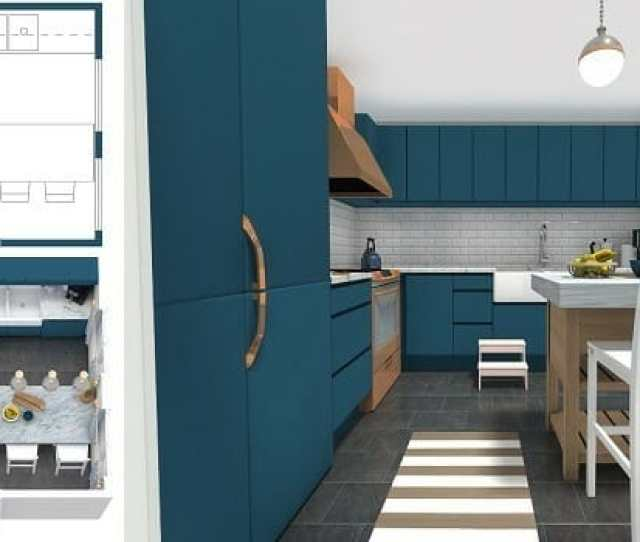 Looking For An Easy Way To Plan Your New Kitchen Try An Easy To Use Online Kitchen Planner Like The Roomsketcher App Create Kitchen Layouts And Floor