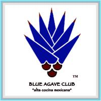 This is a photo of Blue Agave Club logo with a blue border around it.