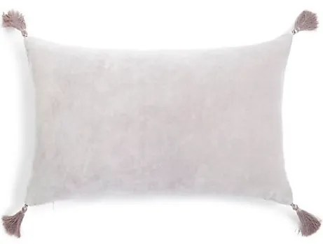 Roomy Home Marks and Spencer M&S Home velvet tassel cushion silver