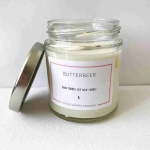 Etsy gift guide Butterbeer Harry Potter inspired handmade soy wax candle