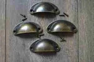 Etsy gift guide antique brass old gold traditional style cup drawer pull