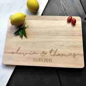 Etsy gift guide custom personalised chopping board