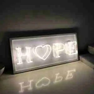 Etsy gift guide neon sign hope