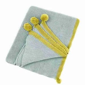 best buy throws Teal pompom Cotswold throw Bluebellgray Amara