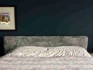 How to make a DIY padded headboard finished