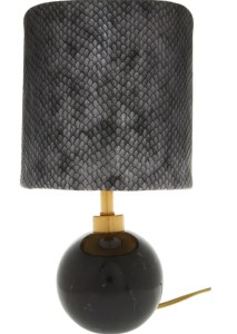 TK Maxx snakeskin print table lamp