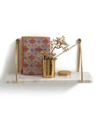 Fitia metal and marble shelf La Redoute curated Roomy Home