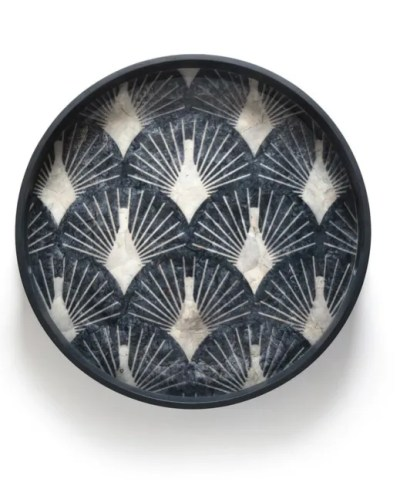 Blue Pinctada tray La Redoute curated Roomy Home