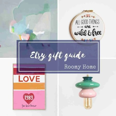Etsy gift guide Roomy Home UK
