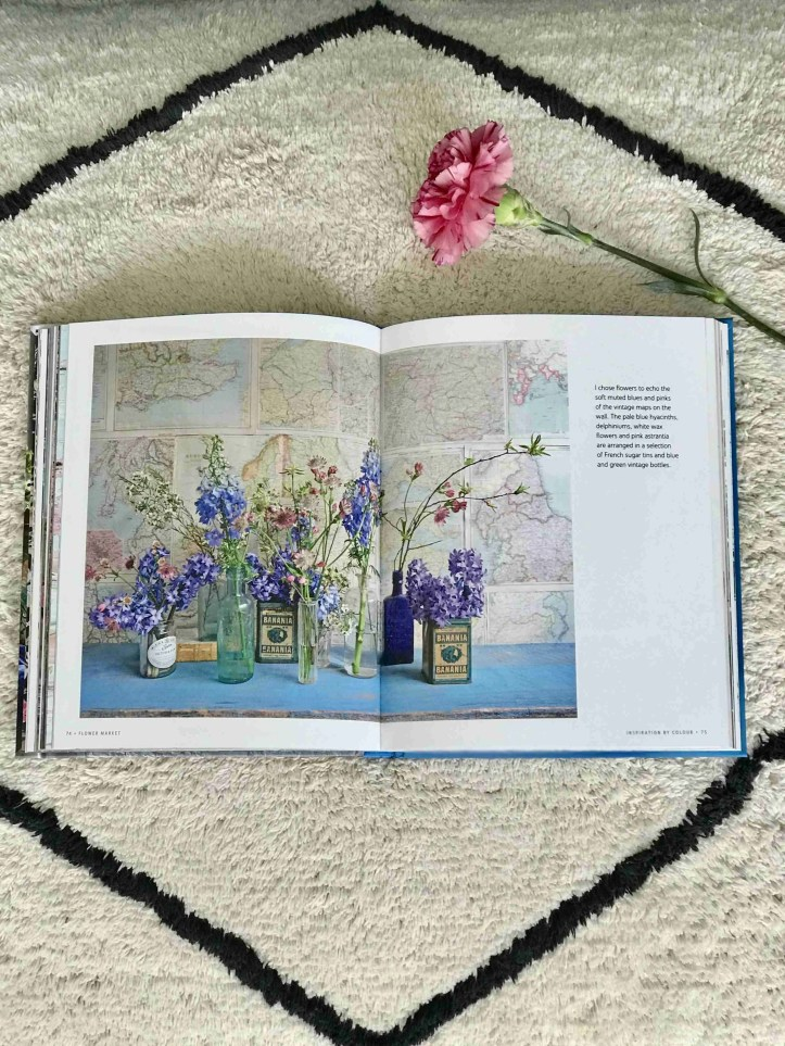 Flower Market Michelle Mason book review Roomy Home vintage maps blue hyacinths
