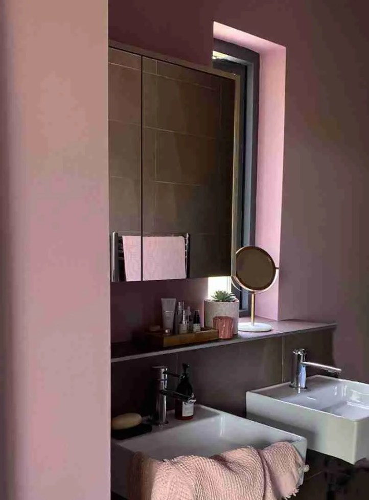 Dusky pink bathroom Roomy Home