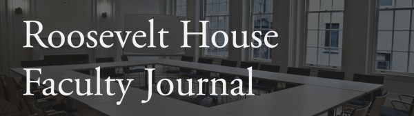 Roosevelt House Faculty Journal Banner