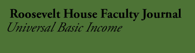 Faculty Journal Universal Basic Income
