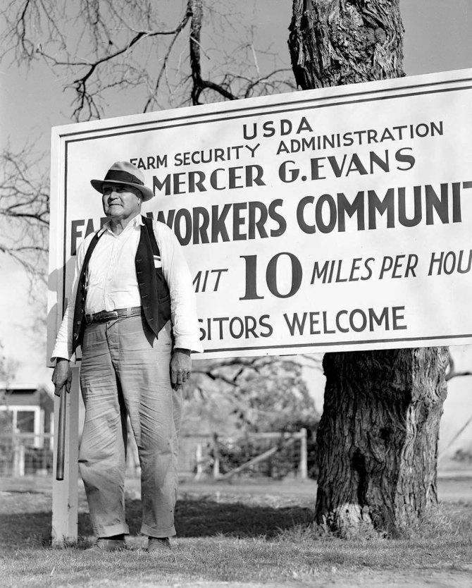 Community traffic officer, FSA migrant camp. Weslaco, TX 1942