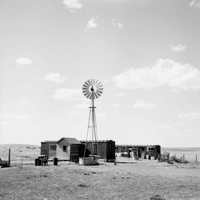 Freight car home. Box Butte County, Nebraska. 1936.