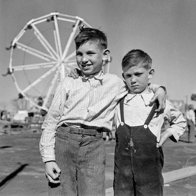 Farm boys of the Pecos Valley at carnival.Roswell, New Mexico. 1936.
