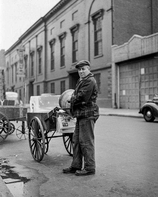 Ice man, New York City. 1941.