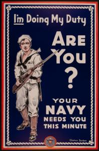 I'm Doing My Duty, Are You? Your Navy Needs You This Minute Poster