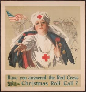 Have You Answered the Red Cross Christmas Roll Call? Poster