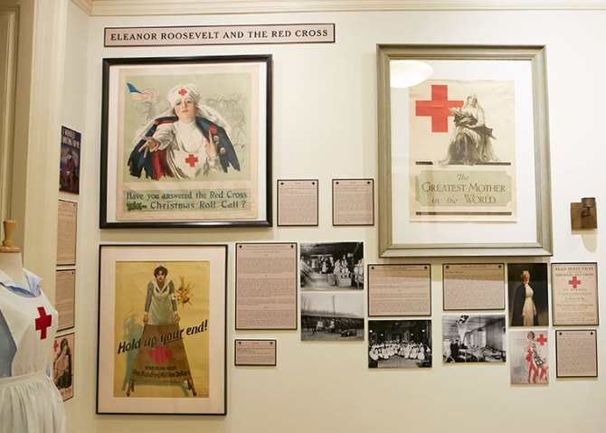 Eleanor Roosevelt and the Red Cross Wall of Images