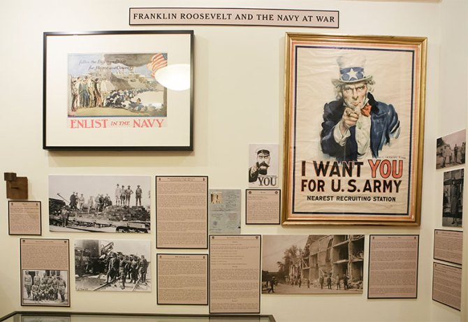 Franklin Roosevelt and the Navy at War Wall of Images