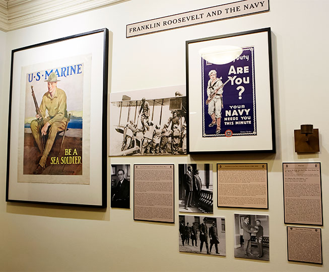 Franklin Roosevelt and the Navy, Wall of Images