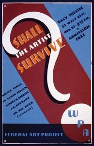 Artist survive poster