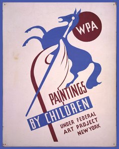 Paintings by children poster
