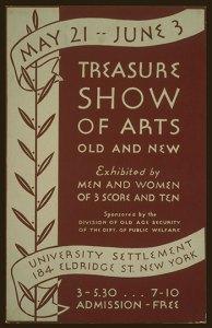 Treasure show poster