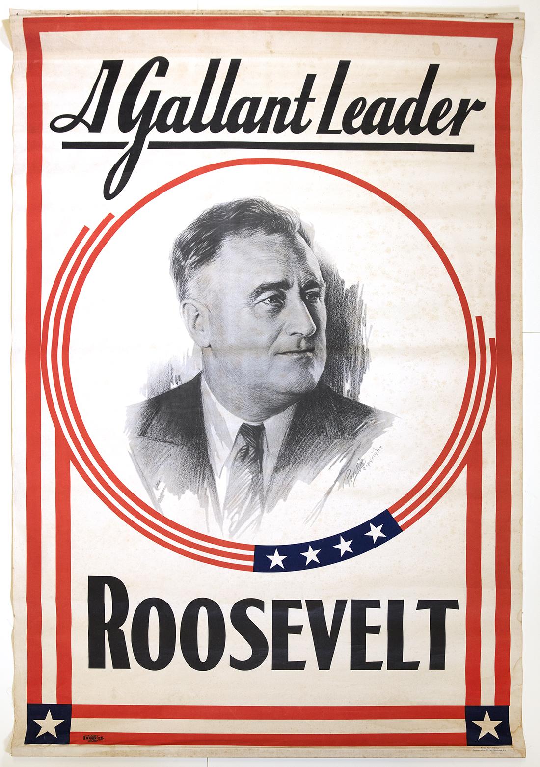 A Gallant Leader. Roosevelt. 1936. (FDRL)