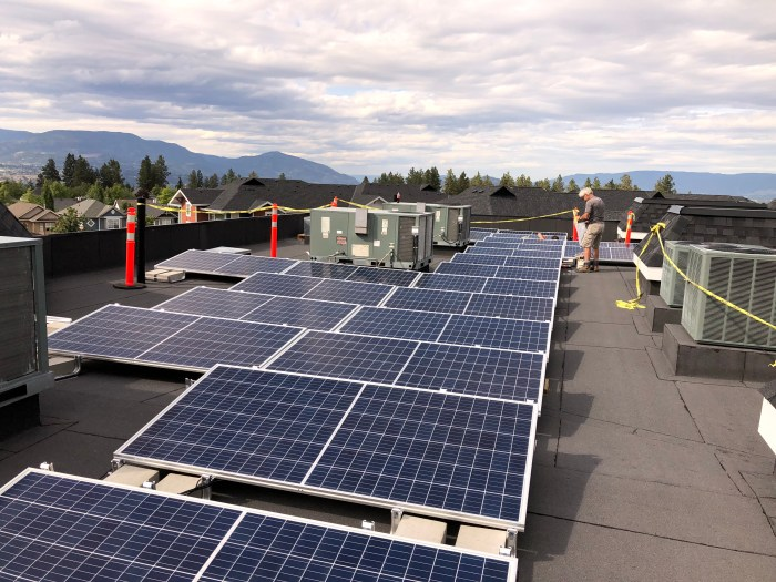 Commercial Flat roof solar