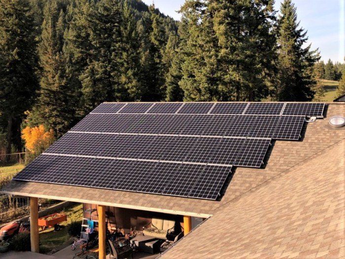 42 panel (13 kW) system in Salmon Arm