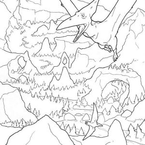 dinosaur adult coloring page
