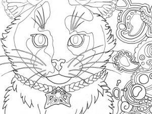tortoiseshell cat coloring page