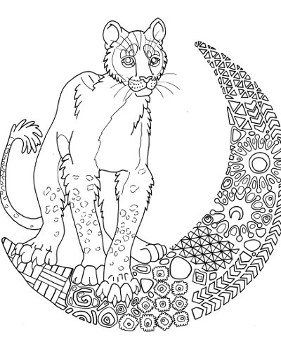moon lioness coloring page