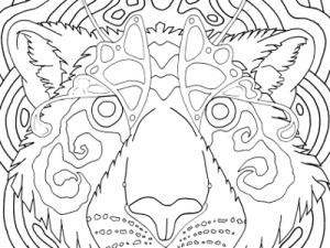 tiger face mandala coloring page