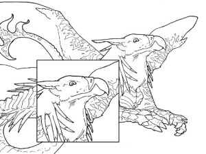 grygon coloring page