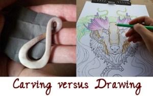 carving versus drawing