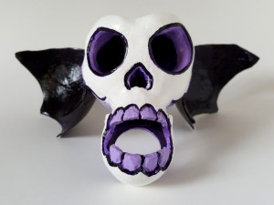 Winged Sugar Skull Sculpture by Nathan Thomas, @ Root Inspirations.