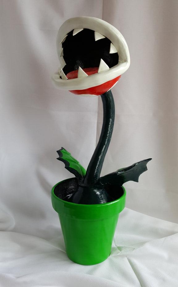 Piranha plant gourd sculpture by Nathan Thomas
